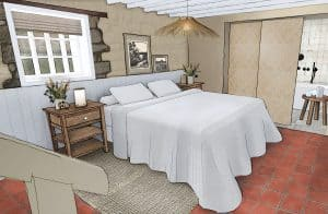 the barn project, farmhouse inspired bedroom