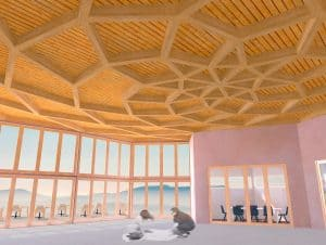 conference room with artichoke ceiling